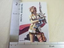 FINAL FANTASY XIII 13 Post Card Postcard Book Japan Game SE*