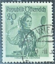 a set of 12 rare (Oesterrich) Austria postage stamps, 1948, provincial costumes.