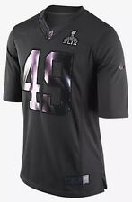 Nike SuperBowl 49 XLIX Seahawks Vs Patriots NFL Jersey Medium 659365-060 $160
