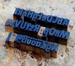 a-z MIX Alphabet Holzbuchstaben 22mm Lettern Holzlettern Vintage Industrie Druck
