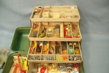 Vintage Tackle Box Full of Fishing Stuff from 1980's ish