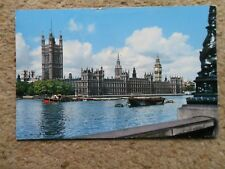 .JOHN HINDE.POSTCARD.THE HOUSE OF PARLIAMENT AND THE RIVER THAMES,LONDON