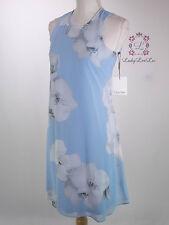 Calvin Klein New Floral Chiffon Trapeze Dress CD7H7C2R Size 2 4 6 8 NWT