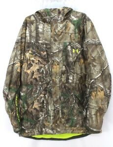UNDER ARMOUR scent control infrared gunpowder hunting jacket realtree hooded 2XL