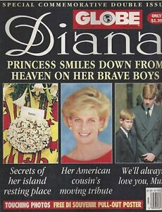 Globe Magazine September 23 1997 Princess Diana Funeral Double Issue w/ Poster