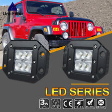 "3x3""Flood Led Light Dually Flush Mount Back Up Reverse JEEP truck Honda Dodge"