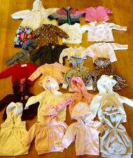 23 Piece Girls 3/6/9 Months Sweater Hoodie Fleece Jacket Vest Winter Lot Carters