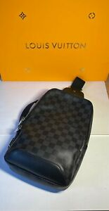 Louis Vuitton Avenue Sling Bag Damier Graphite in Coated Canvas