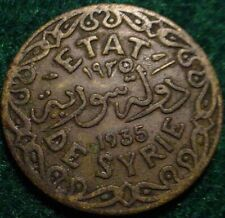 SCARCE**1935 5 PIASTRES SYRIAN ARAB KINGDOM**NICE DETAILED COIN**