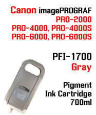 Pfi-1700 Gray Canon imagePROGRAF Pro Compatible Ink Cartridge 700ml