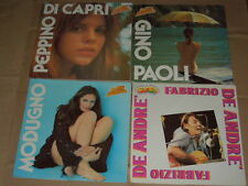 AFFARE BLOCCO DI 4 DISCHI LP 33 GIRI -P. DI CAPRI-G.PAOLI-D.MODUGNO-F. DE ANDRE'