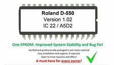 Roland D550 - Version 1.02 firmware OS update EPROM Vintage Synth D-550