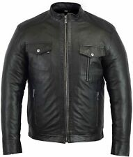 100% Genuine Leather Mens Jacket Stylish and Comfortable Winter 4 Pockets Bikers