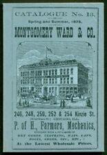 MONTGOMERY WARD & CO. Catalogue, 1875, very good condition