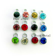 12pcs Birthstone Floating charms For Glass memory Locket Free shipping FC1280