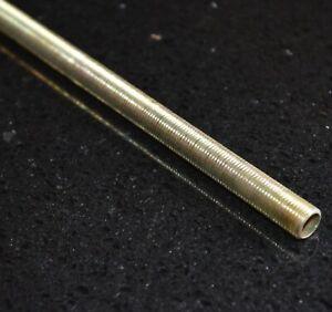 M10 x 150mm Plated All Thread Hollow Threaded Rod Tube For Bulb / Lamp Holders