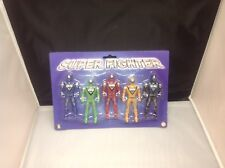 Super Fighter Action Figures 5 Pack Red Green Yellow Black Blue Size 10cm Figure