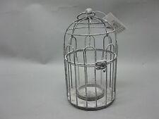Metall  Laterne Teelichthalter  Landhaus Antikstil Vogelkäfig  25 cm