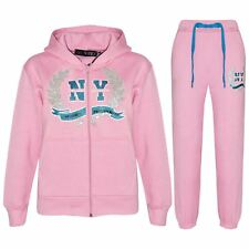 Kids Tracksuit Girls Designer's NY Deluxe Edition Zipped Top Bottom Jogging Suit
