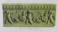 Ancient Rome Terracotta Tile-Plate XV-Orig Folio Lithograph Campana Relief 1851
