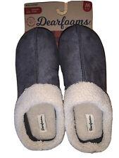 NIP Dearfoams Memory Foam  Mens Slippers Gray Clog M (9-10) Retails $38