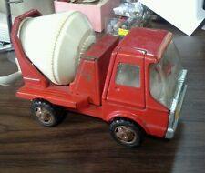 Vintage Red Metal Cragstan Cement Truck Made in Japan -