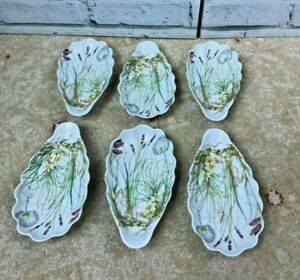 6 x Vintage Pillivuyt Molling Virginie Spring Flowers Oval Shell Dishes