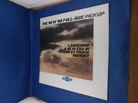 NEW 88 FULL SIZE PICKUP CHEVROLET DEALER BROCHURE TRUCK ADVERTISING
