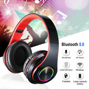 Wireless Bluetooth Headphones Over Ear Stereo Headset Noise Cancelling with MIC