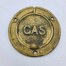 Antique Brass Gas Shutoff or Connection Valve Cover Door