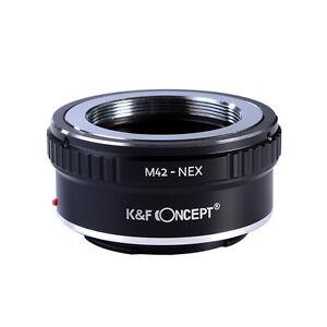 K&FConcept M42-NEX Objektivadapter für M42 Objektiv auf Sony NEX E-Mount Kamera