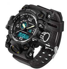SANDA Men's Digital Watch Large Face LED Wrist Watches Military Sports