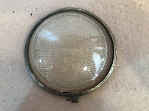 VINTAGE ORIGINAL 1930'S CLEAR  LENS WITH MOUNTING RING