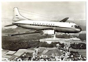 1957 Deutsche Flugdienst Airlines Convair CV-240-4 D-BOBA Photo Postcard