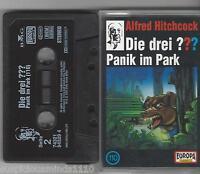 Die Drei Fragezeichen MC Kassette Folge 110 Panik im Park  - 1.Auflage 3 x Logo