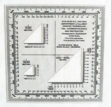 ARMY COORDINATE SCALE AND PROTRACTOR GTA 05-02-012 Army Training Aid >NEW<
