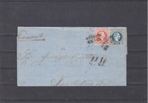 Ö 1867 schöne 2 Farben Frankatur gelaufen auf Bedarfasbrief