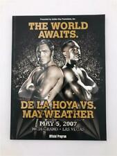 THE WORLD AWAITS DE LA HOYA VS MAYWEATHER 2007 MGM GRAND OFFICIAL FIGHT PROGRAM