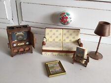 Vintage années 1980 Sylvanian Families living room Set
