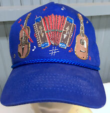 Hand Painted Musical Notes Guitar Cello Accordion Snapback  Baseball Cap Hat