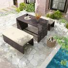 Yitahome 4pcs Patio Sofa Set Wicker Rattan Conversation Outdoor Garden Furniture