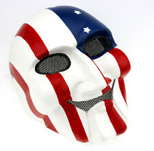 COOL High quality Fiberglass Resin Paintball Airsoft Full Face Saw Mask Props