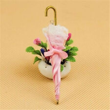 NEW Dollhouse Miniature cute vintage umbrella pink lace lady adorable cute 1:12