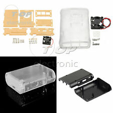 Transparent /Black ABS Cover Box Case For Raspberry Pi 3, 2 B /B+V1 Cooling Fan