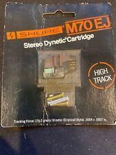 NEW Vintage Shure M70EJ High Track Turntable Cartridge w/Orig Shure N70EJ Stylus