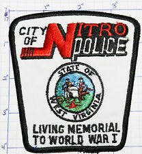 WEST VIRGINIA, CITY OF NITRO POLICE DEPT PATCH
