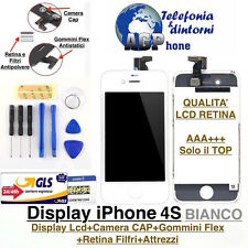 Display LCD Retina Schermo con Touch Screen e Frame per Apple iPhone 4S Bianco
