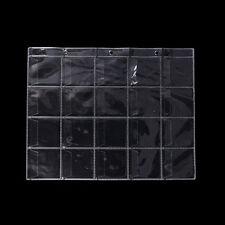 10 Pages 20 Pockets Plastic Coin Holders Storage Collection Money Album Case -qk