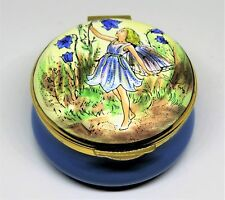 Crummles English Enamel Box - Vintage Harebell Flower Fairy - Cicely Mary Barker