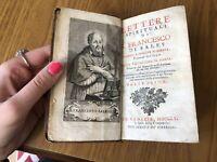 ANTICO LIBRO LETTERE SPIRITUALI DI S FRANCESCO DI SALES PARTE PRIMA VENEZIA 1760